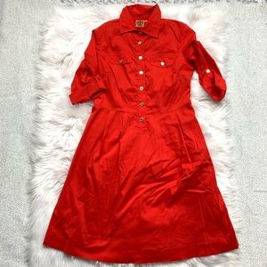Tory Burch Red Button Front Dress